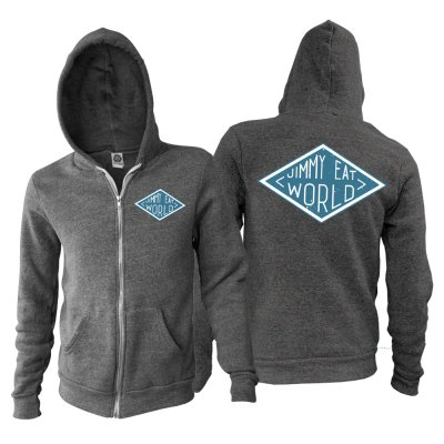 Jimmy Eat World - Diamond Zip Up Sweatshirt (Charcoal Heather)