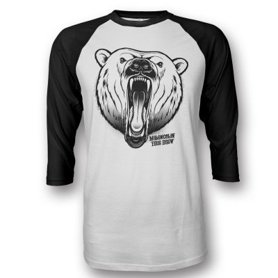Baseball Bjorne Raglan (White/Black)
