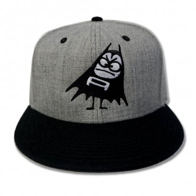 Bat Snapback Hat (Heather Grey/Black)