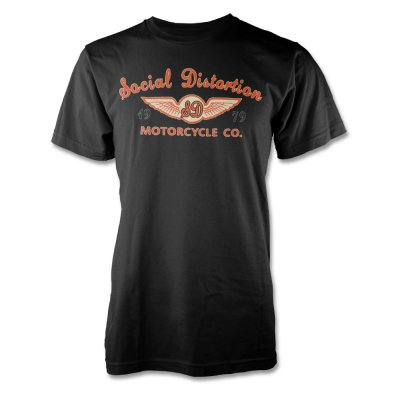 social-distortion - Motorcycle Company Logo T-Shirt (Black)