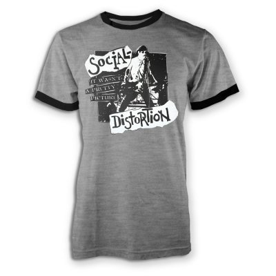 social-distortion - Pretty Picture Ringer T-Shirt (Heather Gray/Black)