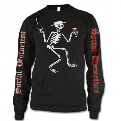 social-distortion - Skelly Logo Long Sleeve T-Shirt (Black)