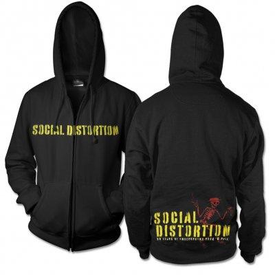 social-distortion - SD Eagle Tattoo Spraypaint Hoodie