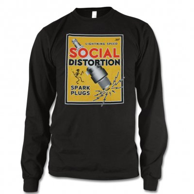 social-distortion - Spark Plug Long Sleeve T-Shirt (Black)