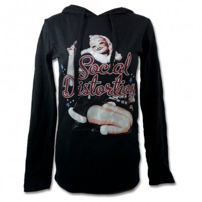 social-distortion - Holiday Pin-Up Thermal Hoodie - Women's (Black)