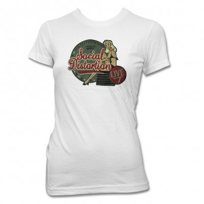 social-distortion - Tattooed Lady T-Shirt - Women's (White)
