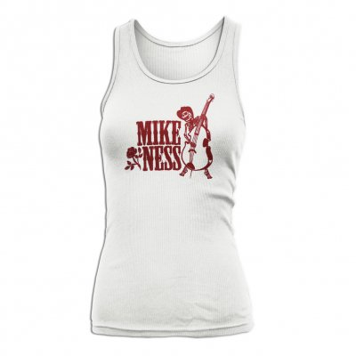 mike-ness - Skeleton Bass Womens Beater (White)