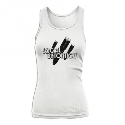 social-distortion - Bombs Away Tank - Women's (White)