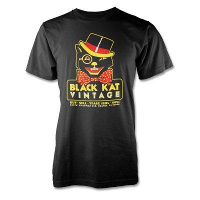 black-kat-kustoms - Black Kat Vintage Tee - Mens