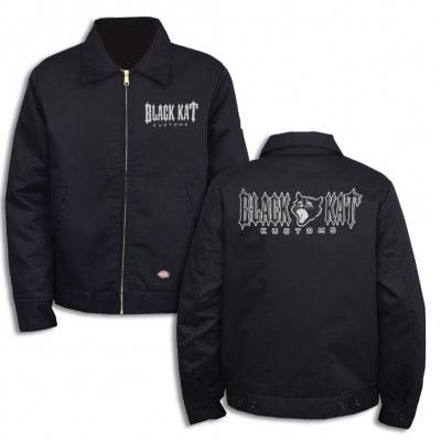 black-kat-kustoms - Lined Work Jacket - Black