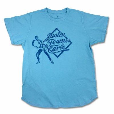 justin-townes-earle - Guitar Baseball T-Shirt (Light Blue)