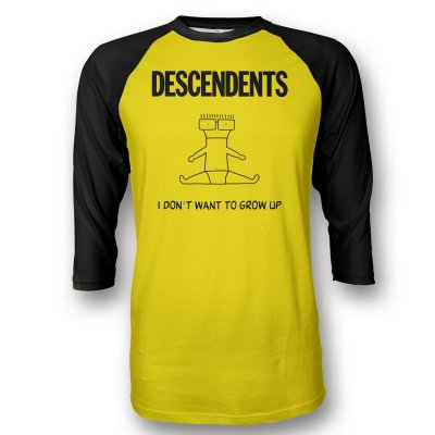 descendents - I Don't Want To Grow Up Yellow Raglan