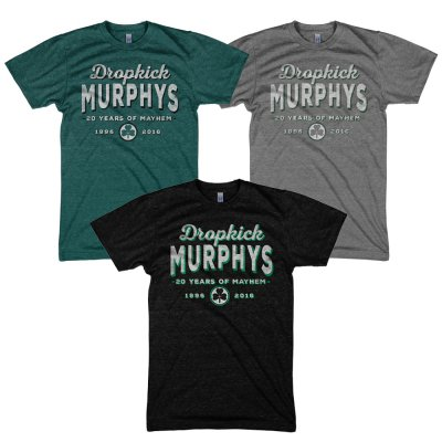 dropkick-murphys - 20 Years Of Mayhem Mens & Womens Custom Tee