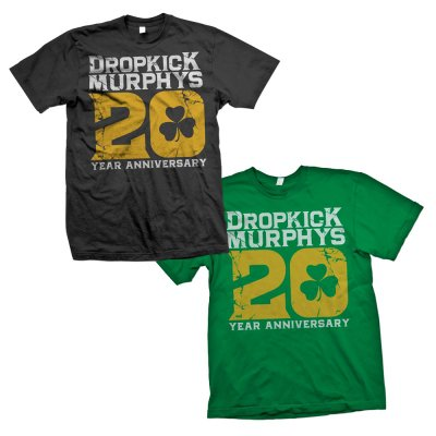 dropkick-murphys - 20th Anniversary Big 20 Custom Tee