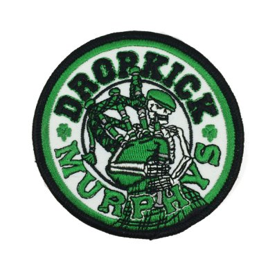 "dropkick-murphys - Skeleton Piper Patch (3"" Round)"