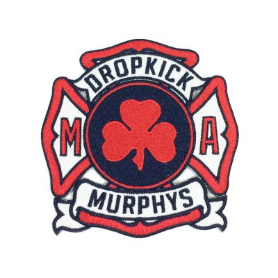 dropkick-murphys - Service Patch (Red)