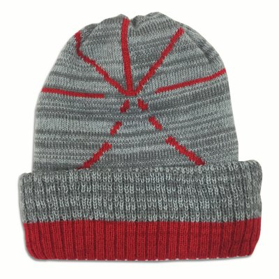 touche-amore - Melange Asterisk Beanie (Gray/Red)