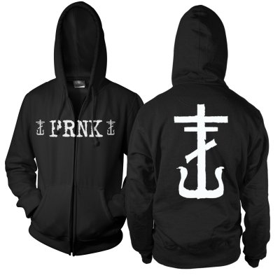 frank-iero - FRNK Zip Up Sweatshirt (Black)