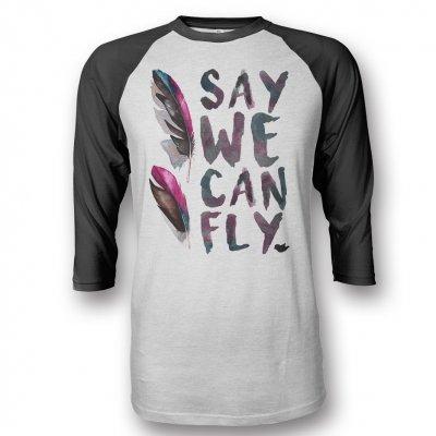 SayWeCanFly - Feathers Baseball Tee