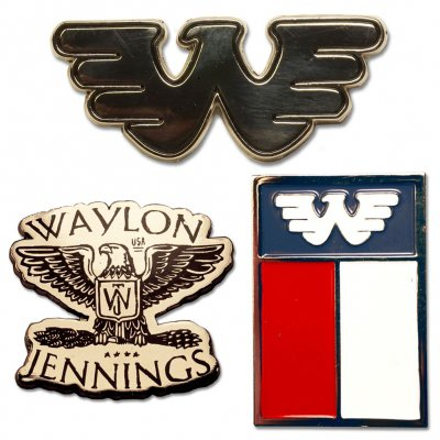 waylon-jennings - Flying W Lapel Pin Set