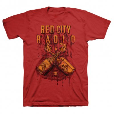 red-city-radio - Pretend Kings Tee (Heather Red)