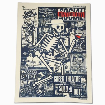 social-distortion - Los Angeles - Greek Theatre Screen Print