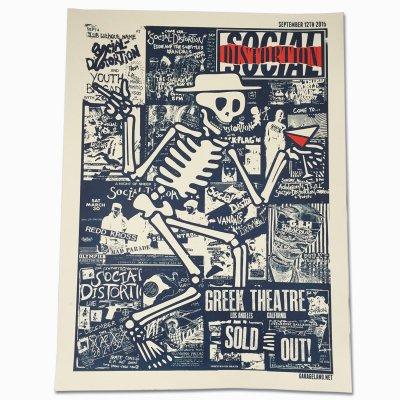 social-distortion - Los Angeles - Greek Theatre Screen Print