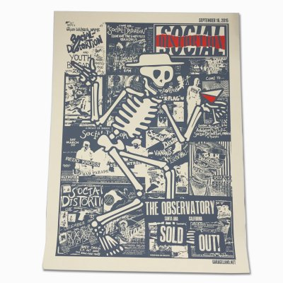 social-distortion - Santa Ana - The Observatory Screen Print (9/16)
