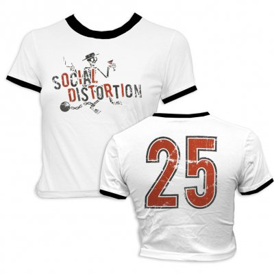 social-distortion - Ball N Chain Crop Ringer - Women's
