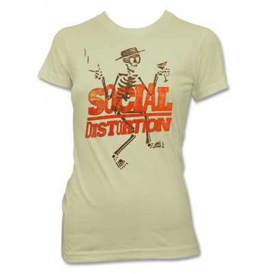 social-distortion - Wood Block T-Shirt - Women's (Ivory)