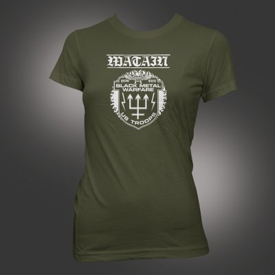 watain - Black Metal Warfare T-Shirt - Women's (Army Green)