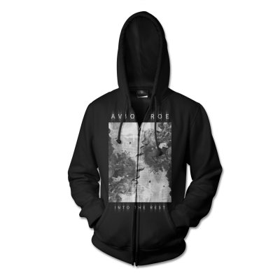Face Zip Up Sweatshirt (Black)