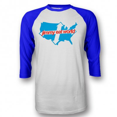 Jimmy Eat World - Across America Raglan (Royal Blue)
