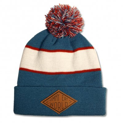 jimmy-eat-world - Leather Patch Pom Pom Beanie