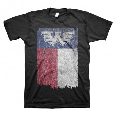 waylon-jennings - Texas Flag Tee (Black)