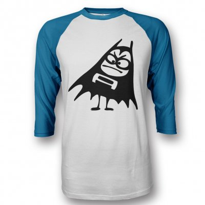 the-aquabats - Bat Logo Raglan (White/Blue)