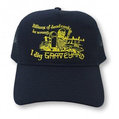 Dig Graveyard Trucker Hat (Navy)