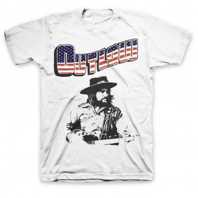 waylon-jennings - New Outlaw Tee (White)