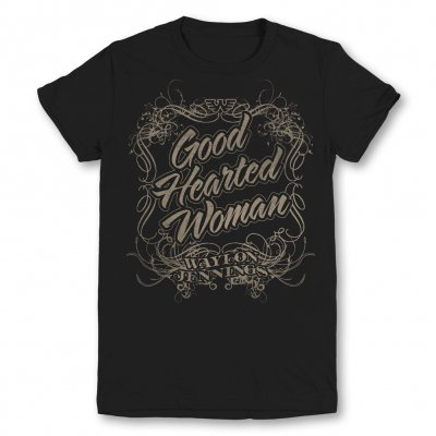 waylon-jennings - Good Hearted Woman Juniors Tee (Black)