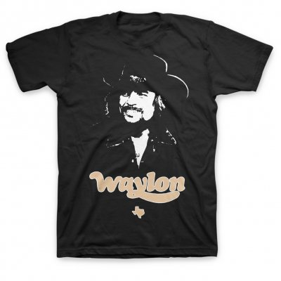 waylon-jennings - Texas Tee (Black)