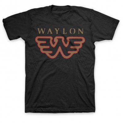 waylon-jennings - Flying W Tee (Black)