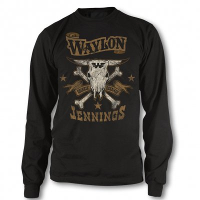 waylon-jennings - Drinkin and Dreamin Long Sleeve Tee (Black)