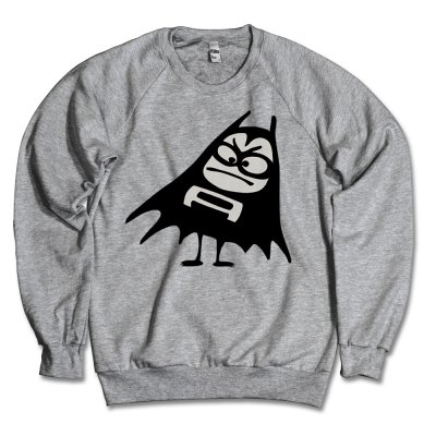 the-aquabats - Bat Crew Neck (Heather Grey)