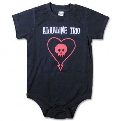 alkaline-trio - Red Heart Skull Onesie