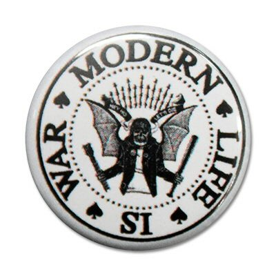 "modern-life-is-war - Dead Ramones 1"" Button (White)"