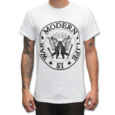 Modern Life Is War - Dead Ramones Tee - White