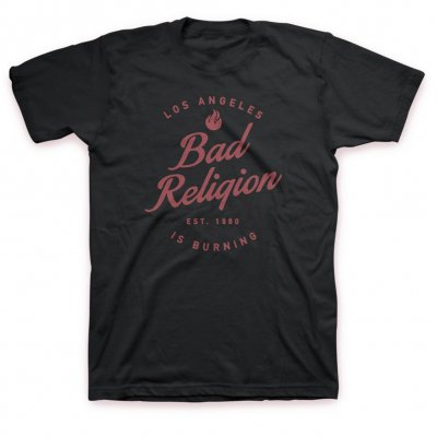 bad-religion - LA Burning Tee (Black)