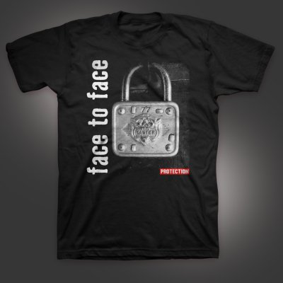 face-to-face - Lock T-Shirt (Black)