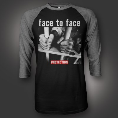 face-to-face - Prison Bars Raglan (Black/Snow)
