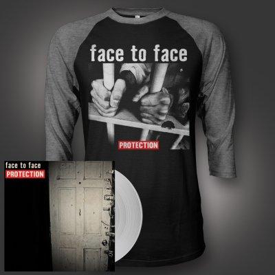 face-to-face - Protection LP (Clear) + Prison Bars Raglan Bundle